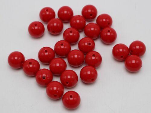 """100 goma de mascar Color Acrílico redonda con cuentas de 12mm 1//2/"""" Bola Suave Color A Elección"""