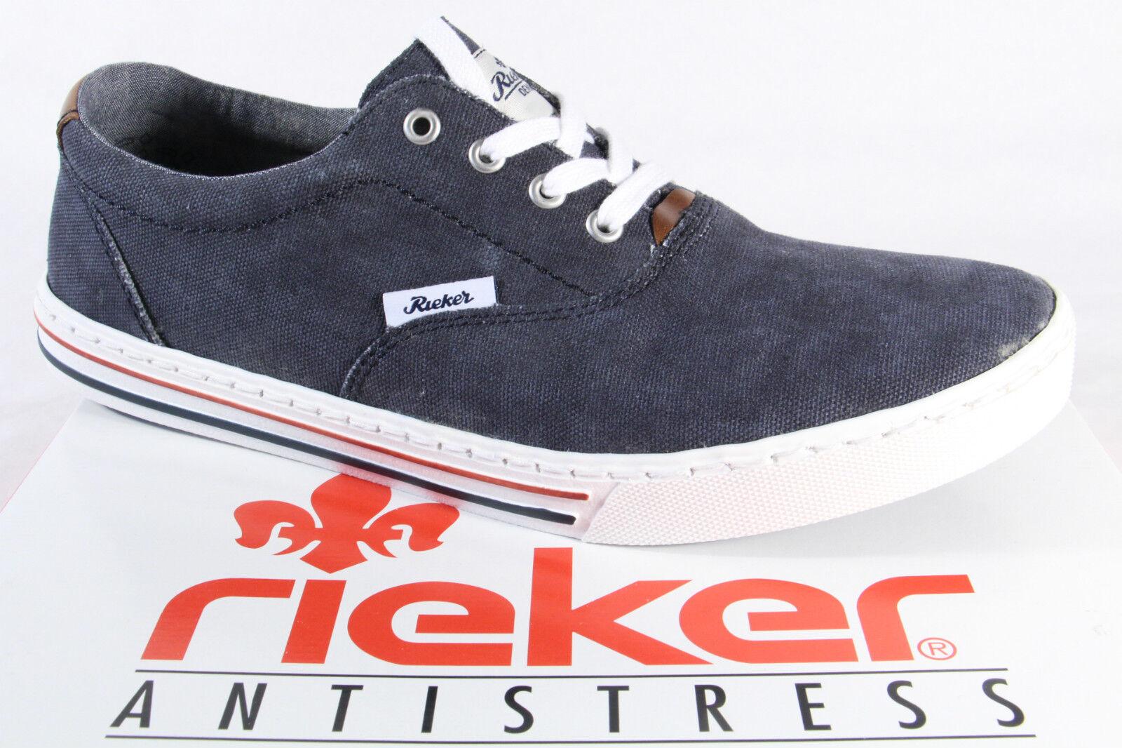 Rieker Men's Lace-Up shoes, Trainers, LOW SHOE TEXTILE blueE NEW