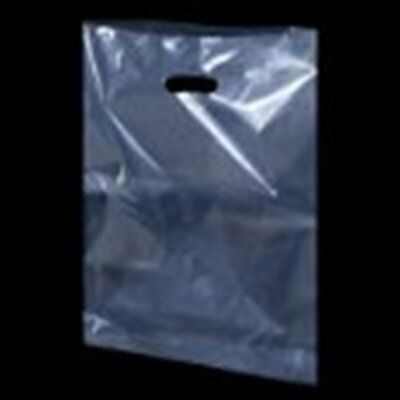 CLEAR  Plastic Carrier Bags Party Gift Bags ***Choose Size  and Pack Size***