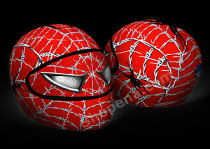 Spiderman Motorcycle Helmet Cover AND Visor Sticker Decal Wired - Motorcycle helmet visor decals