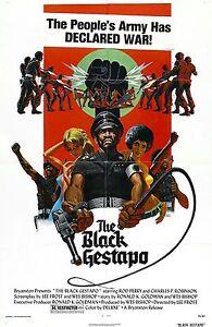Black Gestapo Movie Poster Blaxploitation Exploitation Grindhouse Ebay