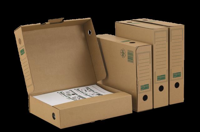 Ablagebox PREMIUM 75 braun 262x70x317 mm aus Wellpappe Karton Ablagen A4+ Ordner