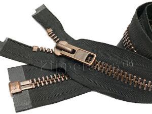 """#10 26/"""" Black YKK Heavy Duty Aluminum Separating Jacket Zipper"""
