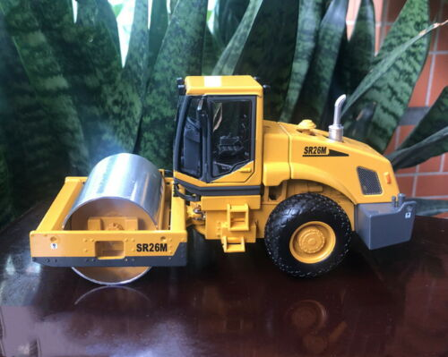 1//35 Scale SHANTUI SR26M Single Drum Vibratory Road Roller DieCast Model Toy