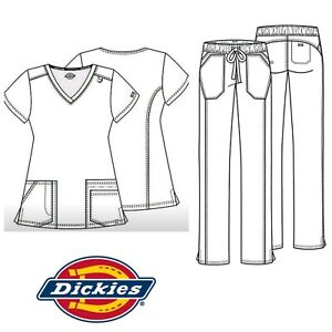 08d34abfc00 New Women's Dickies EDS Signature Stretch Certainty Medical Scrub ...
