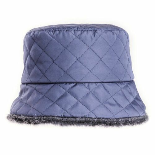 Ladies Quilted Bush Rain Hat With Faux Fur Lining 3 colours