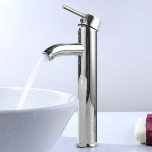 12 Modern Bathroom Lavatory Vessel Sink Faucet Brushed Chrome
