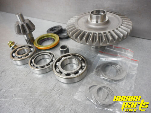 1652 Canam G2 Rear Differential Ring Pinion Gear Set Bearings Seal Kit READ!