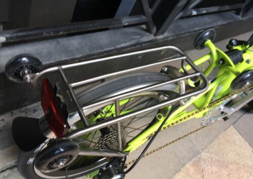 PU Easy Wheels Titanium Bolts For Brompton Bicycle Bike Standard Rack 60x18mm