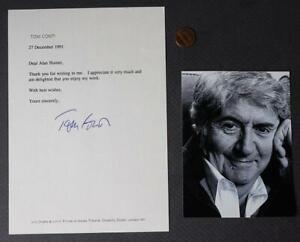 1983 Reuben Reuben movie star Tom Conti Autographed letter & photo set-UNCOMMON!