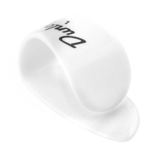 DUNLOP 9013R LEFT HANDED   LARGE WHITE THUMB PICKS 3 PACK