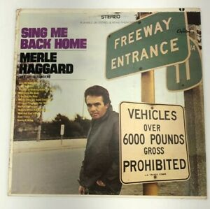 MERLE HAGGARD & THE STRANGERS Sing Me Back Home CAPITOL ST-2848 LP Rare