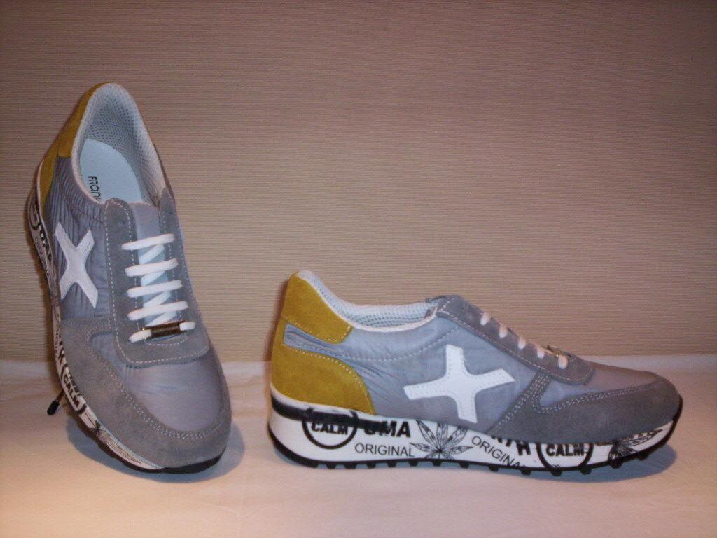 Frankie Model scarpe sportive scarpe da ginnastica ginnastica ginnastica casual uomo pelle camoscio tela grigie ee5cdd
