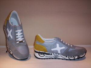 Frankie-Model-scarpe-sportive-sneakers-casual-uomo-pelle-camoscio-tela-grigie