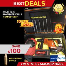 Hilti Te 5 Drill Great Condition Free Hilti Flashlight Amp Extrasfast Ship