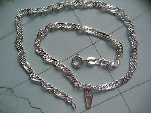 Glass Jewels Elegant Silber Fußkettchen Perlen Weiß Schwarz Länge 27,5 cm #J083