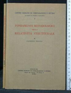 FONDAMENTI METODOLOGICI DELLA RELATIVITA' STRUTTURALE. Valerio Tonini. Centro...