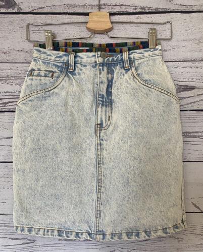 80's Vintage Jordache acid wash denim skirt boho s