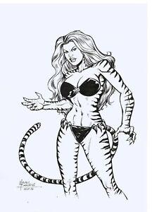 Tigra-of-the-Avengers-Original-Art-Sketch-11-x-17