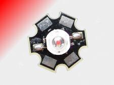 Standard 3W High Power LED auf Starplatine tiefrot, 660nm, deepred 3W Hi-Power