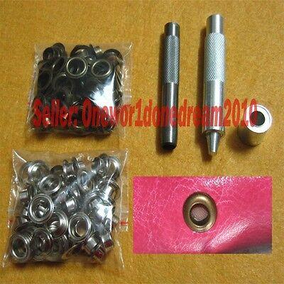 10MM Grommets Installation Setting Tool Kit Set + Leather Hole Punch +80 Eyelets