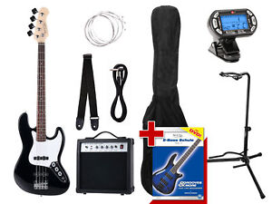 Guitare-Basse-Electronique-Bass-Set-Amplificateur-Housse-Support-Corde-Cable