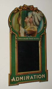 1920 Admiration Cigar tin lithograph sign pre porcelain