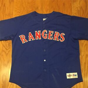 factory price 169ad 17913 Details about Vintage Authentic Majestic Diamond Collection Texas Rangers  Batting Jersey sz XL