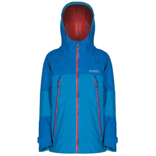 Regatta Allcrest Kids Waterproof Breathable Jacket Girls /& Boys Multi Colours
