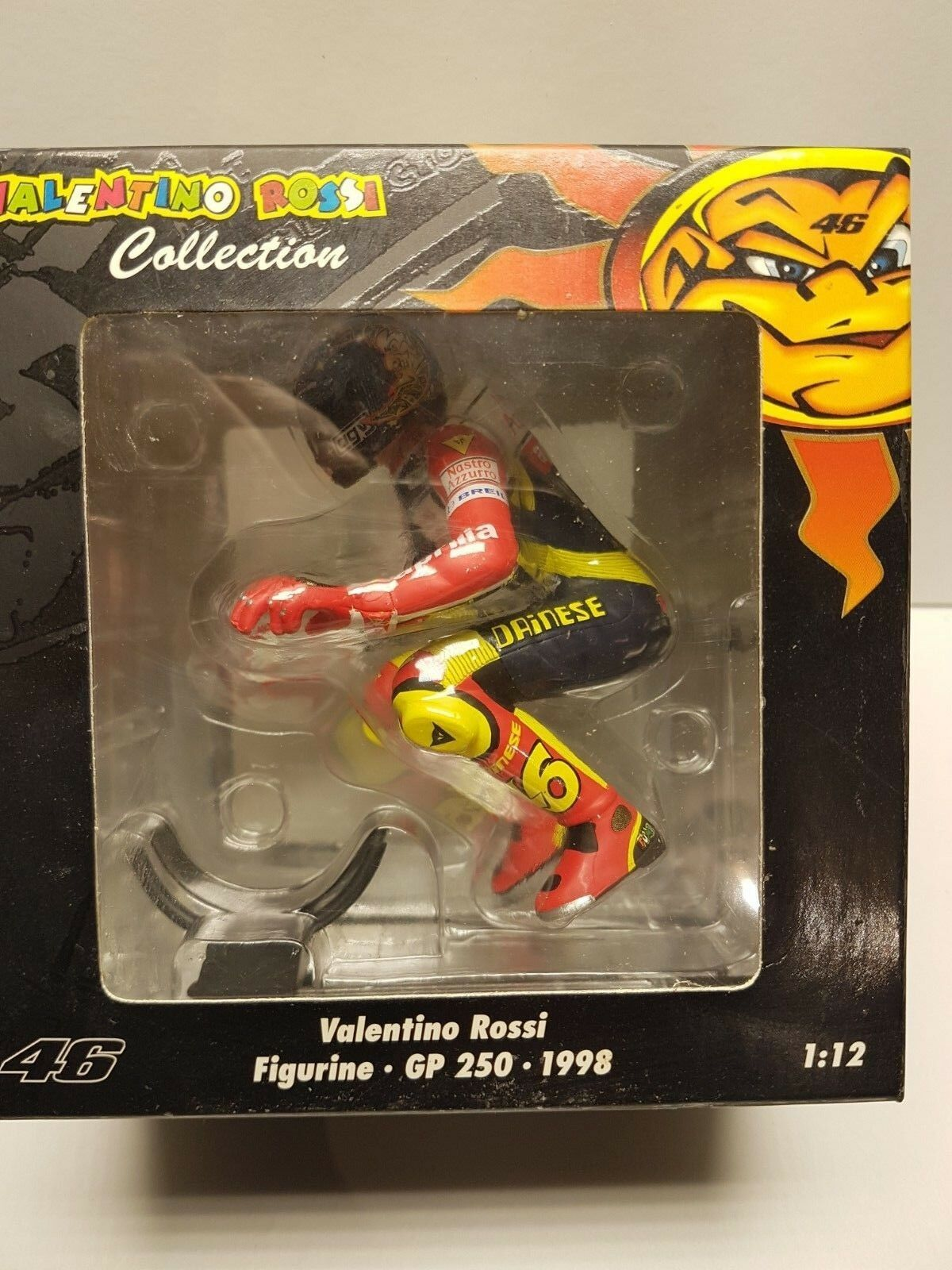 Figurine V. Rossi Riding GP 250 1998 Minichamps 1 12  312980056