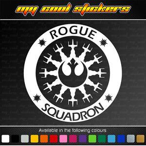 Rogue-Squadron-15cm-vinyl-sticker-decal-4X4-Ute-Car-Star-Wars-Rebel-Alliance