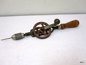 No-85-Millers-Falls-Co-Egg-Beater-Style-Hand-Crank-Drill