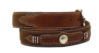 Nocona Western Mens Belt Southwest Studs Leather Brown N2411144
