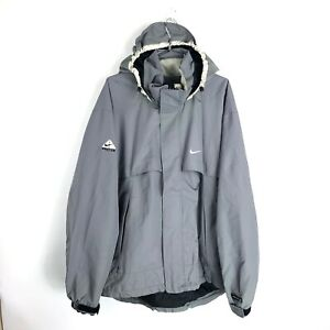 c8f2864f78e48 Vintage 90s Nike ACG Mens Sz Large Gray Spell Out 3 Outerlayer ...