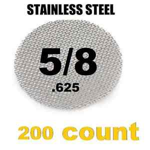 """100x Stainless Steel Tobacco Pipe Screens 5//8/"""" .625/"""" Size US SELLER"""