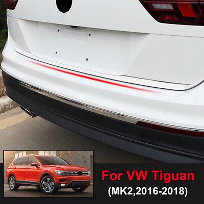 Chrome Rear Trunk Door Edge Cover Trim Strip For VW Tiguan MK2 2nd Gen 2016-2018