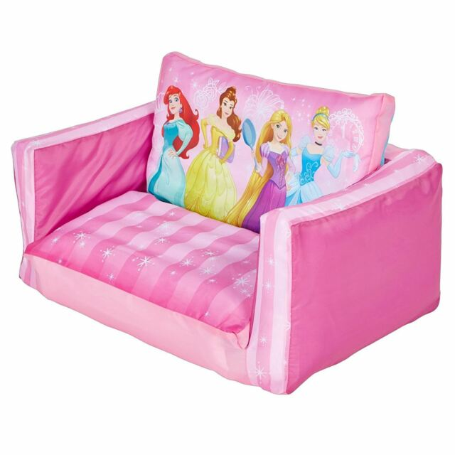 DISNEY PRINCESS FLIP OUT SOFA KIDS INFLATABLE BELLE CINDERELLA RAPUNZEL  PINK NEW