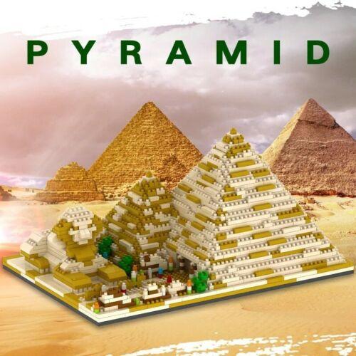 1456Pcs Egyptian Pyramids Architecture City Building Legoed Blocks Toys Model