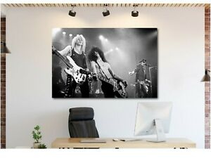 GUNS-N-ROSES-Slash-Duff-Axl-Live-Canvas-Wall-Art-Print-Various-Sizes