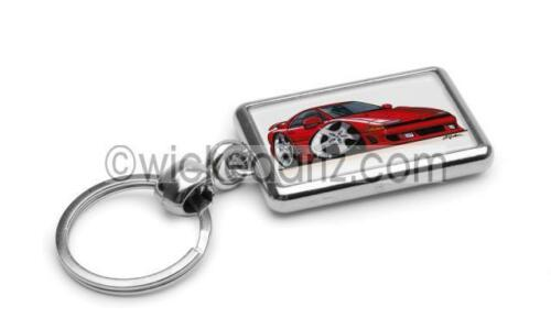RetroArtz Cartoon Car Mitsubishi GTO in Red Premium Metal Key Ring