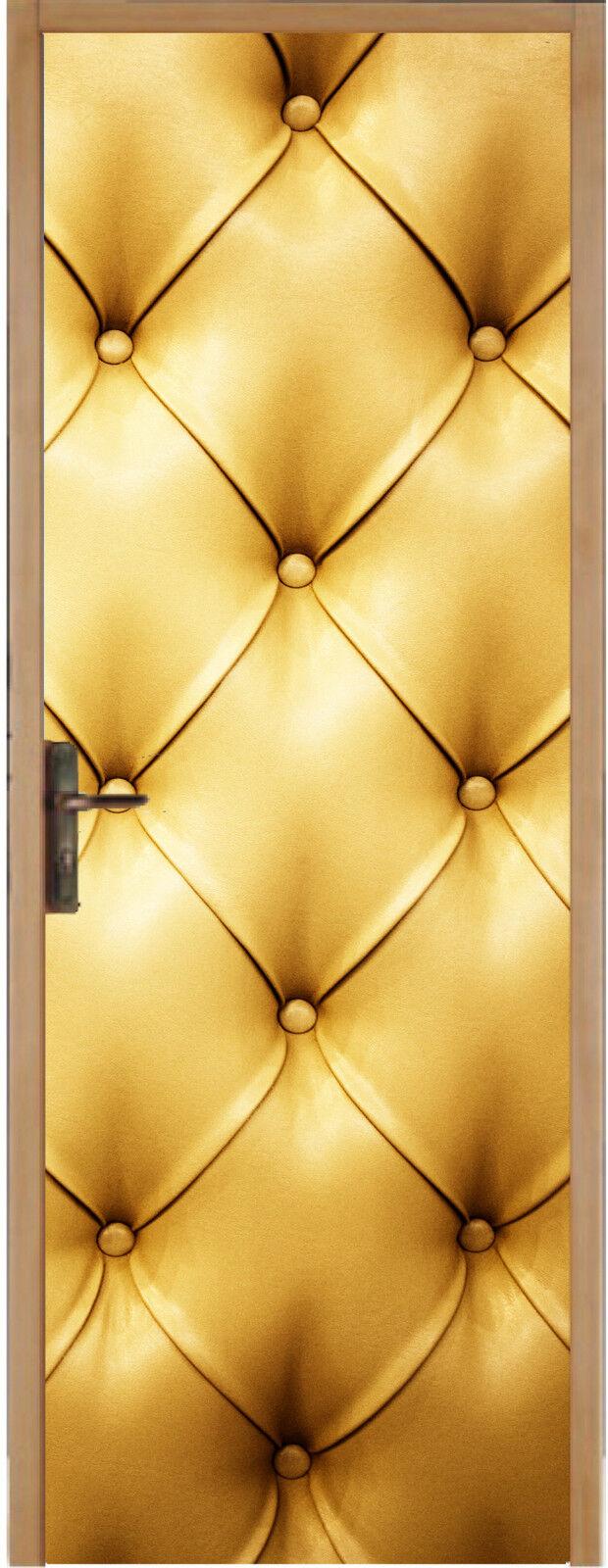 Adhesivo para Puerta Plana Capitoné oro 83x204cm Ref 312