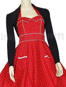 RoCkaBiLLy RED Short Sleeve Cropped Cardi Shrug ~ Retro 50s Cardigan Bolero
