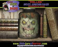 """Hellion"" Head in Jar - Halloween/Horror Prop/Decor-  Fetid Green Version"