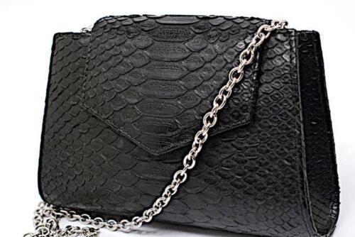 Castro Python de Matt 100 Clutch 5 Adriana bolso Chain Silver Castro handbag Cadena Python Embrague 5 plata Black Black Nwt Matt Adriana 100 Nwt dT5wd8