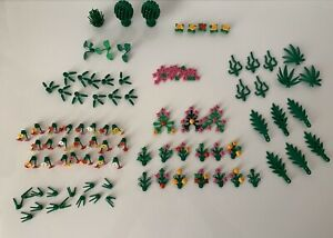 LEGO-PIECES-FEUILLAGE-plantes-arbustes-arbres-fleurs-Palm-Leaves-verdure-Bundle-Lot