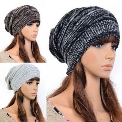 Unisex Knit Hot Beanie Beret Hat Winter Warm Oversized Ski Cap Xmas Lovely Gifts
