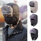 Men/Women Winter Trapper Aviator Trooper Hat Warm Earmuffs Fur Thicken Earflap