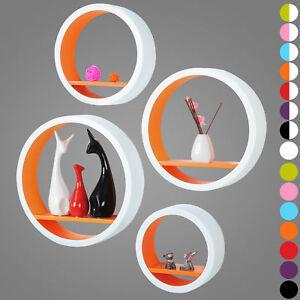 Wall-Shelves-Floating-Wall-Mounted-Shelf-MDF-Set-of-4-Round-Orange-URG9231or
