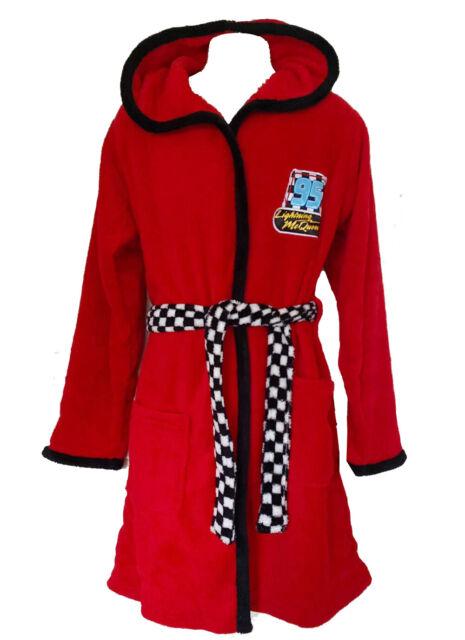 Disney Cars Boys Lightening McQueen Fleece Hoodie Dressing Gown