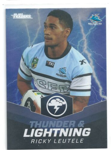 Ricky LEUTELE Sharks TL 22 // 32 2015 NRL Traders Thunder /& Lightning